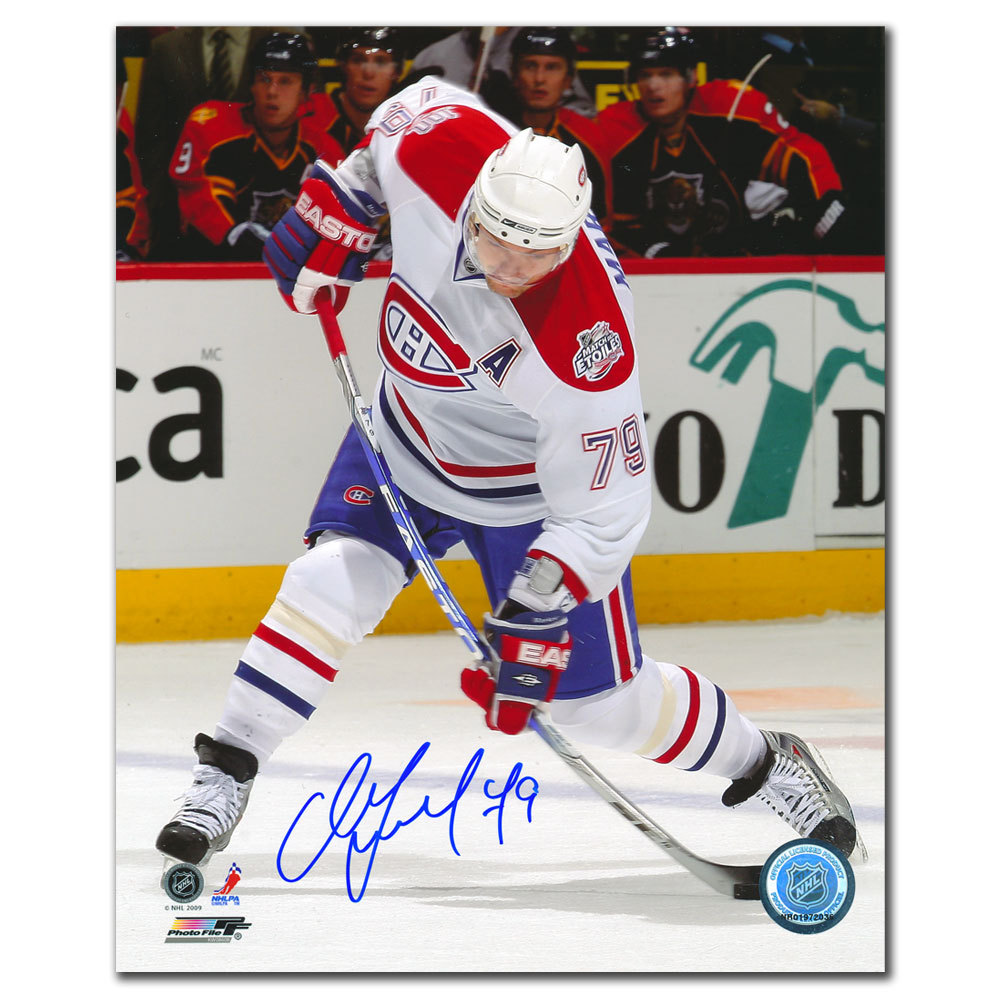 Andrei Markov Montreal Canadiens SLAPSHOT Autographed 8x10
