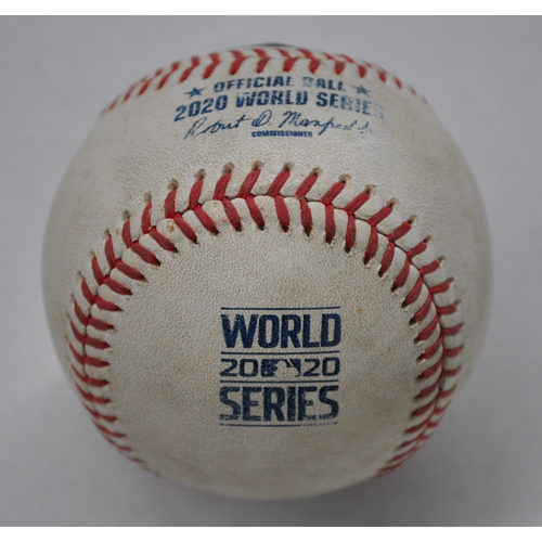 Photo of Game-Used Baseball - 2020 World Series - Los Angeles Dodgers vs. Tampa Bay Rays - Game 4 - Pitcher: Kenley Jansen, Batter: Randy Arozarena (Foul) - Bot 9