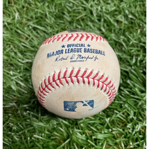 Photo of Game Used Baseball: Randy Arozarena single off Brett Martin - Bottom 8 - April 13, 2021 v TEX