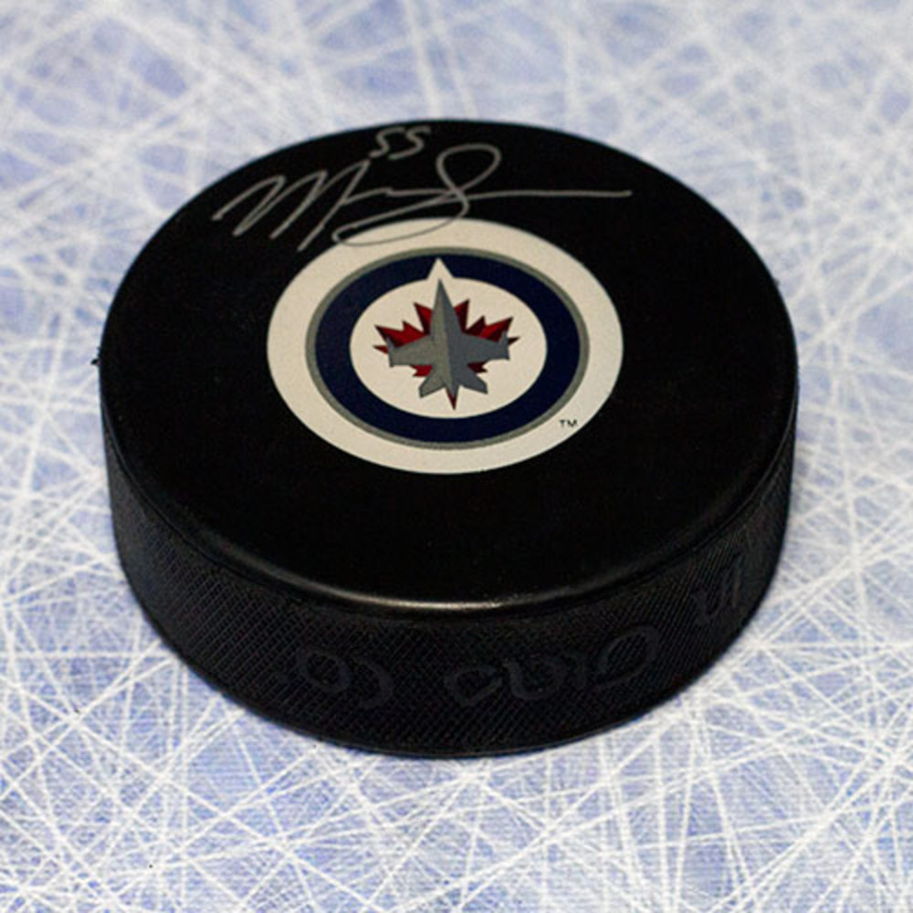 Mark Scheifele Winnipeg Jets Autographed Hockey Puck
