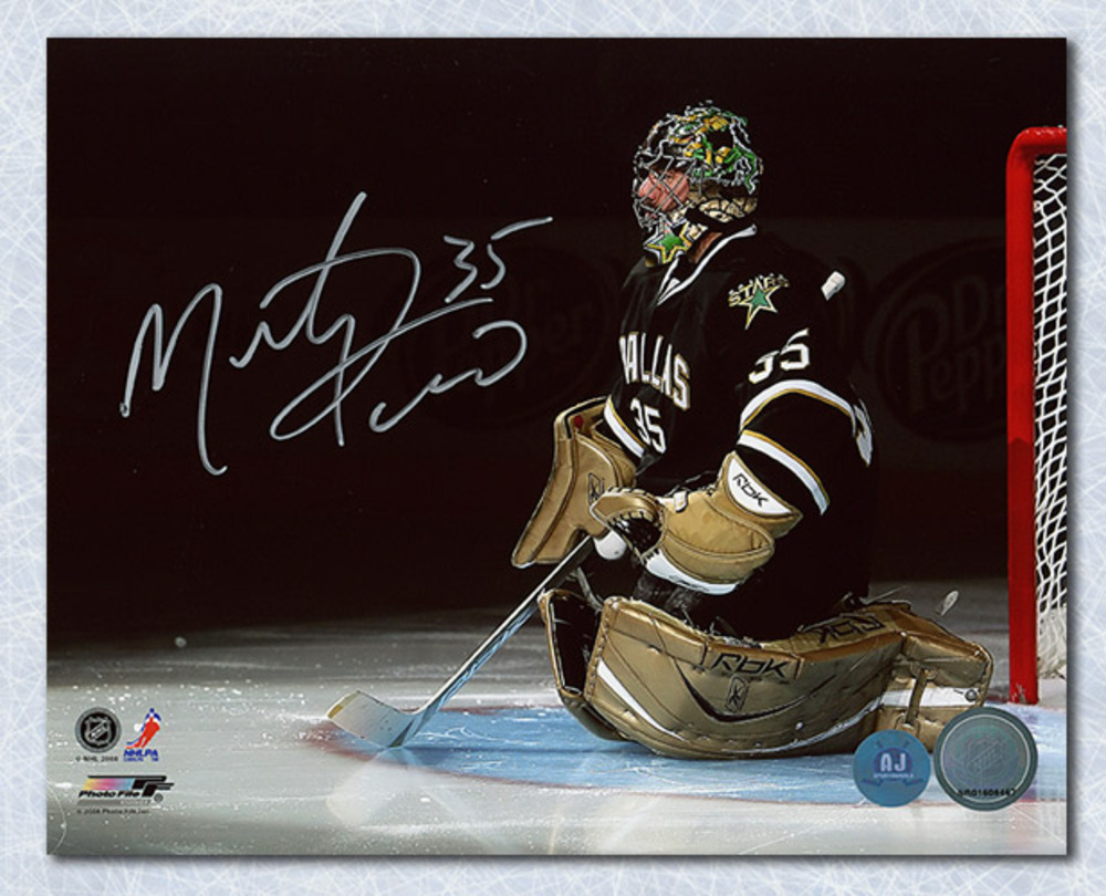 Marty Turco Dallas Stars Autographed Playoff Intro 8x10 Photo