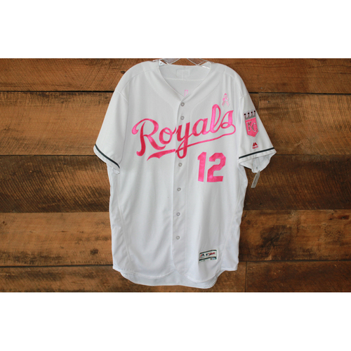 Jorge Soler Game-Used Mother's Day Jersey: May 14, 2017 BAL at KC (Size 46) (100th career RBI)