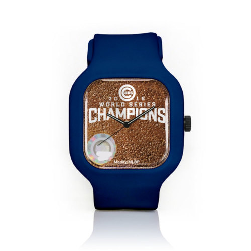 Photo of Chicago Cubs 2016 World Series Champions Sport Watch with Game-Used Dirt from Game 7 by Modify Watches