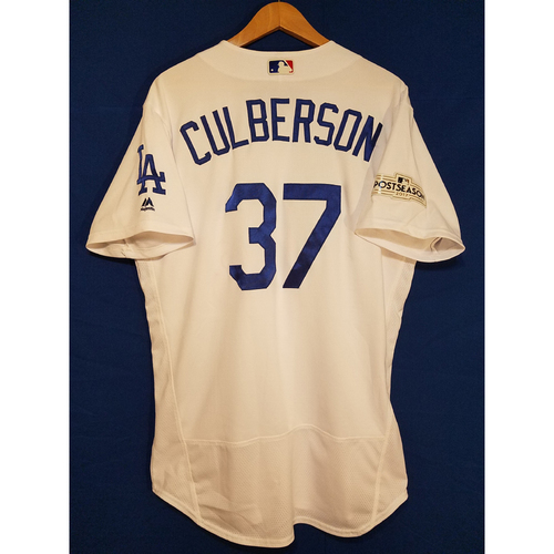 Charlie Culberson Home 2017 Team-Issued Post Season Jersey