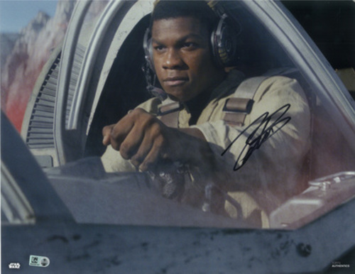 John Boyega as Finn 11x14 Autographed in Black Ink Photo