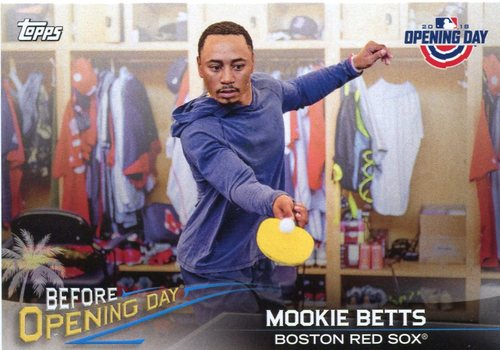 Photo of 2018 Topps Opening Day Before Opening Day #BODMB Mookie Betts