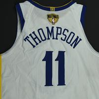 Klay Thompson- Golden State Warriors - 2018 NBA Finals - Game 1 - Game-Worn White Jersey