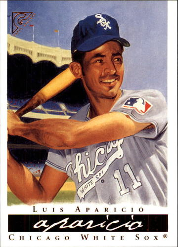 Photo of 2003 Topps Gallery HOF #5 Luis Aparicio Wood Bat