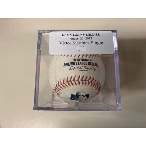 Photo of Game-Used Baseball: Victor Martinez Single
