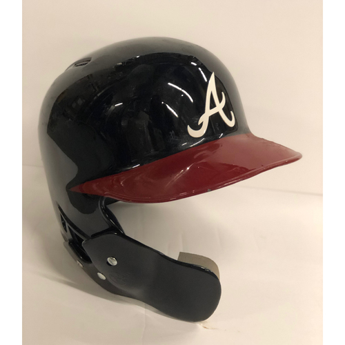 Photo of Ender Inciarte Game-Used Postseason Batting Helmet - Worn 10/7/18 and 10/8/18 - size 7 1/4