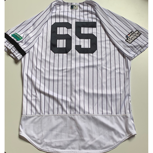 Photo of 2019 London Series - Game-Used Jersey - James Paxton, New York Yankees vs Boston Red Sox - 6/29/19
