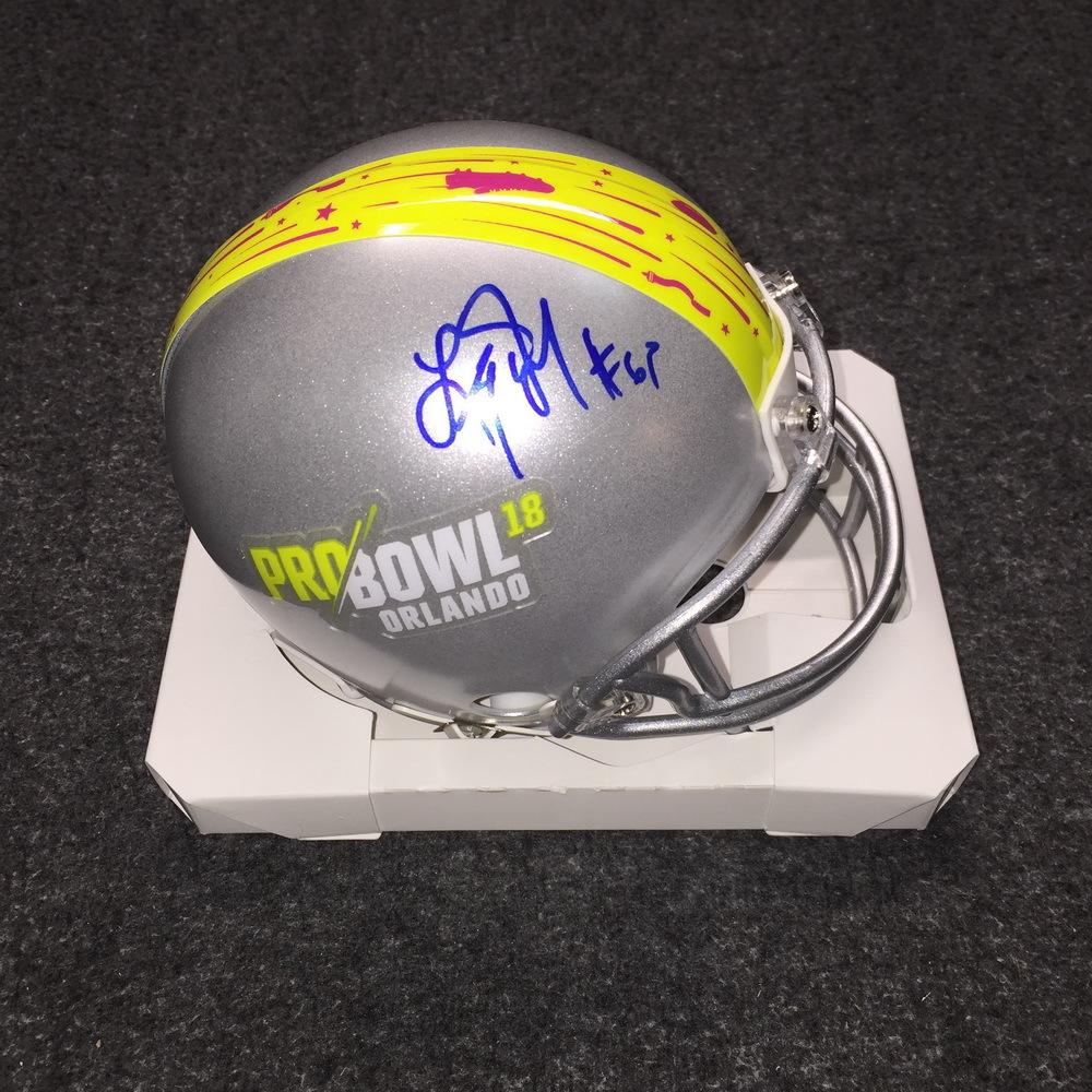 NFL - Saints Larry Warford signed 2018 Pro Bowl mini helmet