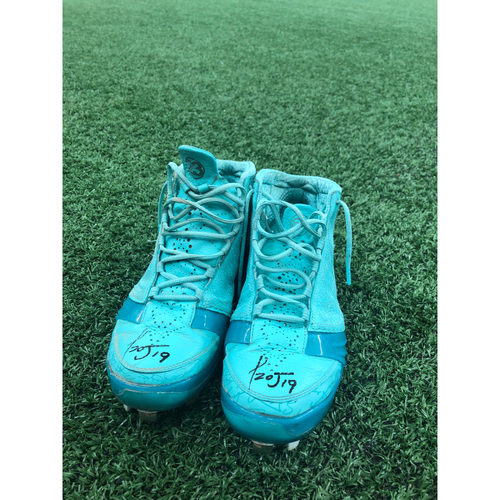 Photo of Miguel Rojas Throwback Weekend Autographed Cleats