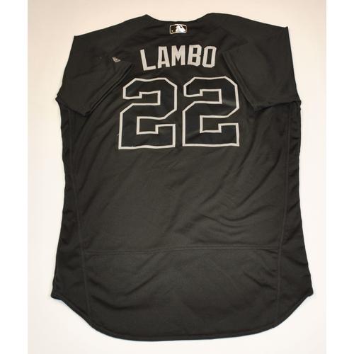 """Photo of Jake """"LAMBO"""" Lamb Arizona Diamondbacks 2019 Game-Used Players' Weekend Jersey"""