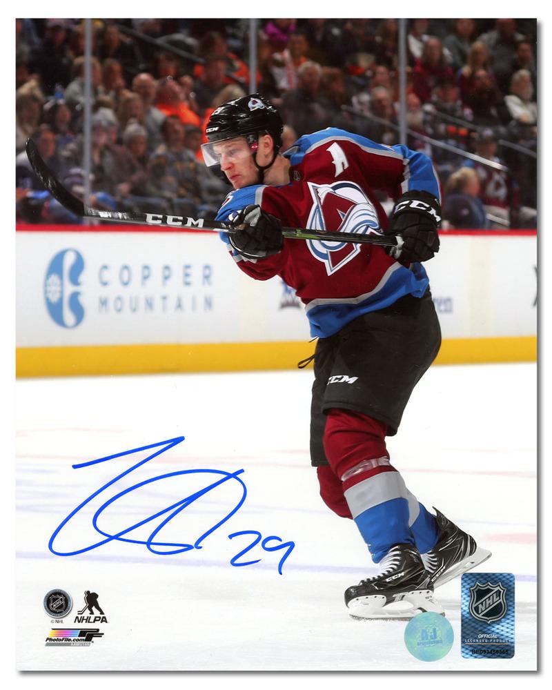 Nathan MacKinnon Colorado Avalanche Autographed Hockey Action 8x10 Photo