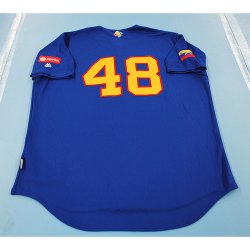 Photo of 2017 World Baseball Classic: Venezuela Batting Practice Jersey #48 - Jose Alvarez - Size XL