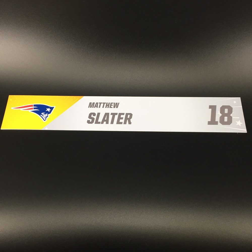 NFL - Patriots Matthew Slater Pro Bowl 2020 Locker Room Name Plate