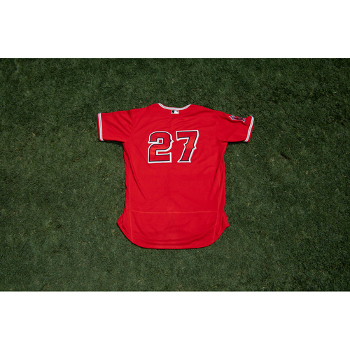 Photo of Mike Trout Game Used 2020 Spring Training Jersey (7/22/20)