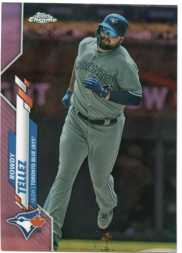Photo of 2020 Topps Chrome Pink Refractors #141 Rowdy Tellez
