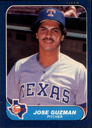 Photo of 1986 Fleer #559 Jose Guzman RC