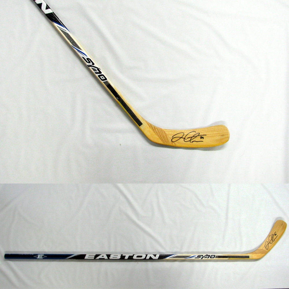 LOGAN COUTURE Signed Easton Player Model Stick - San Jose Sharks