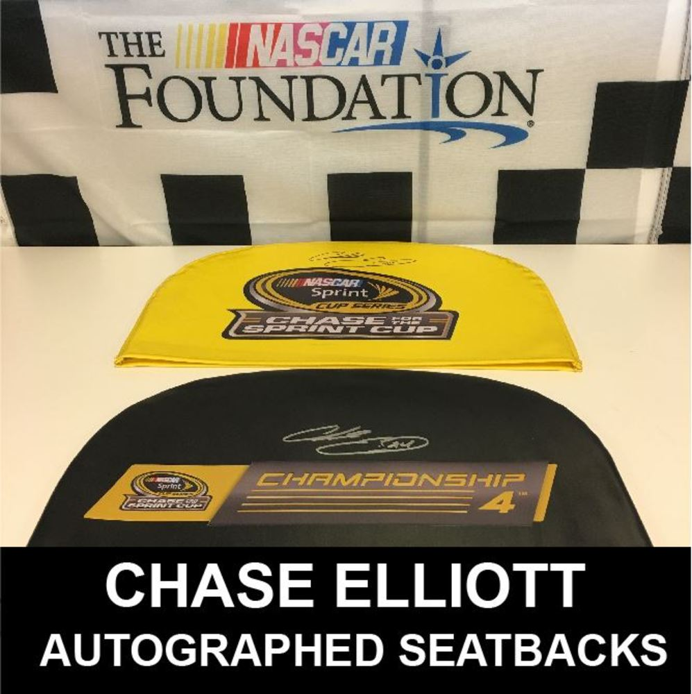 Chase Elliott Autographed 2016 Championship Seat Back Covers