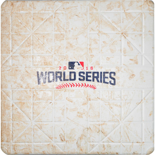 2016 World Series Game 4: Game-used 1st Base, Used during 1st and 2nd Innings