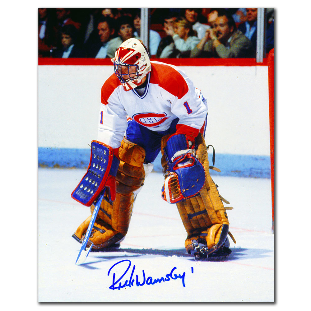 Rick Wamsley Montreal Canadiens WHITE JERSEY Autographed 8x10