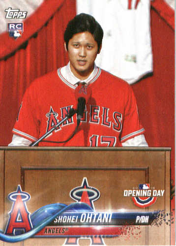 Photo of 2018 Topps Opening Day #200 Shohei Ohtani