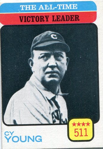 Photo of 1973 Topps #477 Cy Young/All-Time Victory Leader -- Hall of Fame Class of 1936