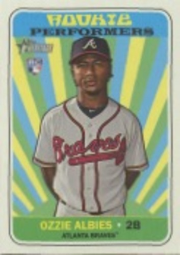 Photo of 2018 Topps Heritage Rookie Performers #RPOA Ozzie Albies