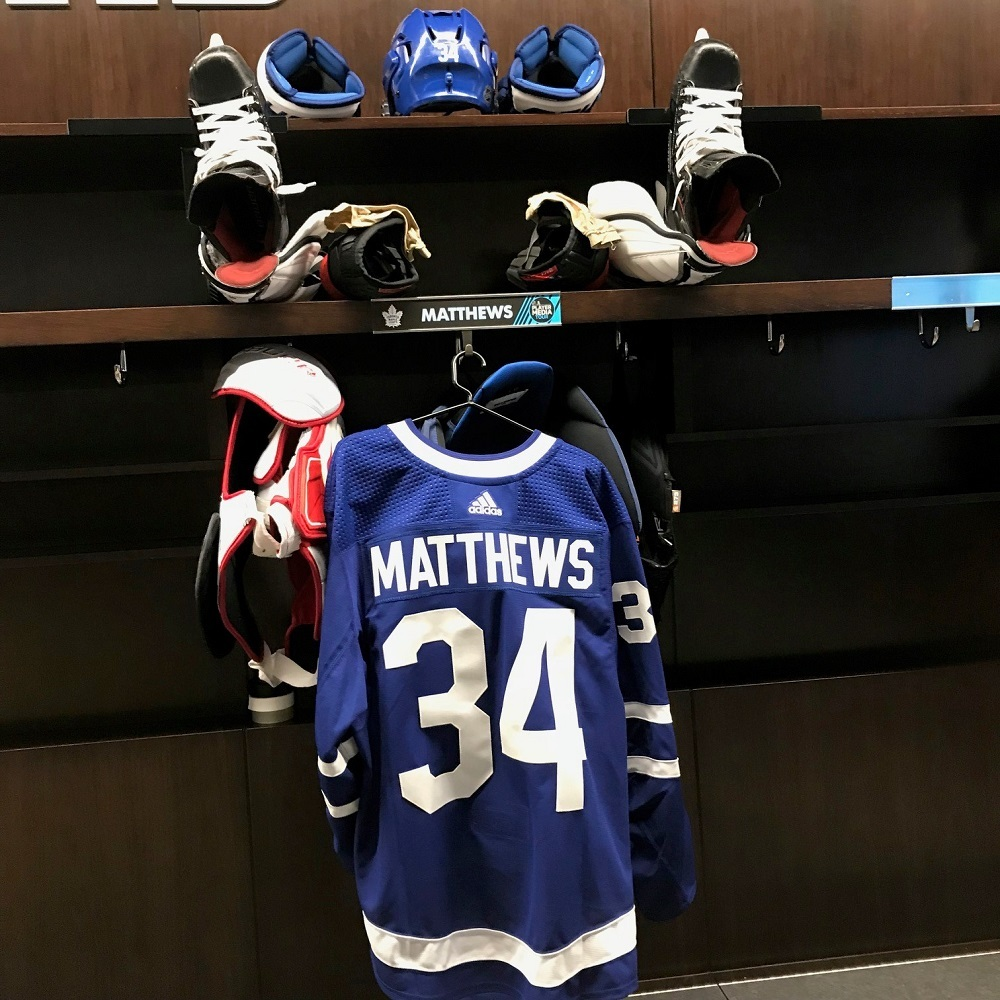Auston Matthews Locker Room Nameplate From 2018 Player