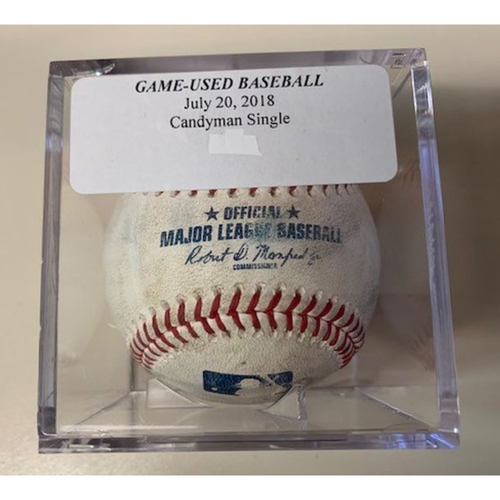 Photo of Game-Used Baseball: Jeimer Candelario Single & Niko Goodrum Single
