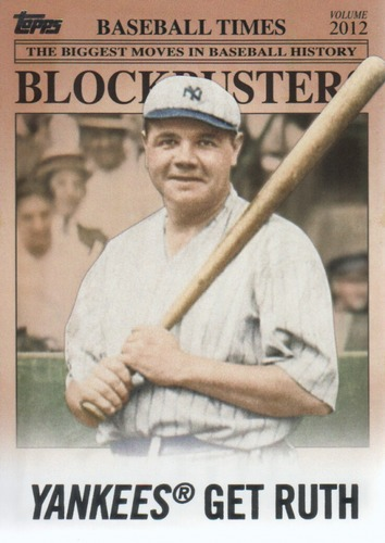 Photo of 2012 Topps Update Blockbusters #BB15 Babe Ruth