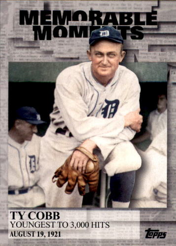 Photo of 2017 Topps Memorable Moments #MM32 Ty Cobb