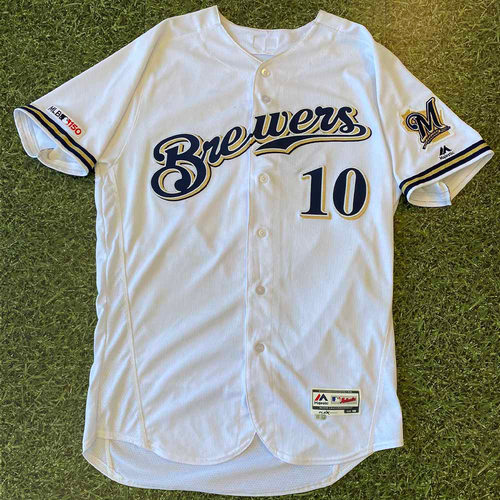 Game-Used Jersey: Yasmani Grandal #10 Opening Day 2019 (3/28)