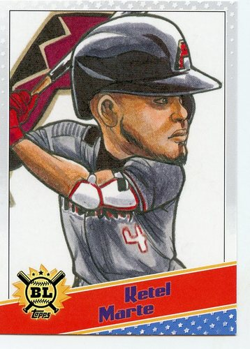 Photo of 2020 Topps Big League Star Caricature Reproductions #SCOKM Ketel Marte