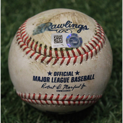 Photo of Game-Used Baseball: Javier Baez 636th Career Hit (CHC @ KC 8/5/20)