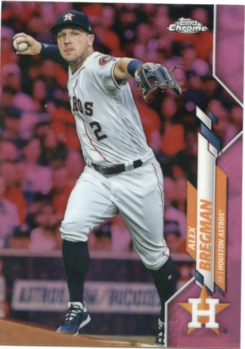 Photo of 2020 Topps Chrome Pink Refractors #102 Alex Bregman