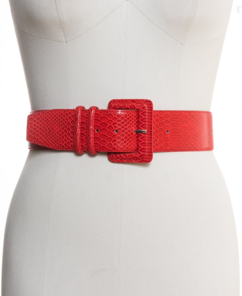 Photo of Inc Stretch Snake-Embossed Belt