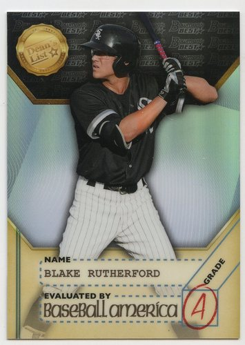 Photo of 2017 Bowman's Best Baseball America's Dean's List #BADLBR Blake Rutherford