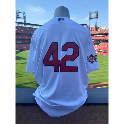 Photo of Cardinals Authentics: Team Issued Adam Wainwright Jackie Robinson Day Jersey