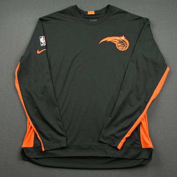 Image of Nikola Vucevic - Orlando Magic - Game-Issued Earned Edition Game Theater Shooting Shirt  - 2019-20 NBA Season