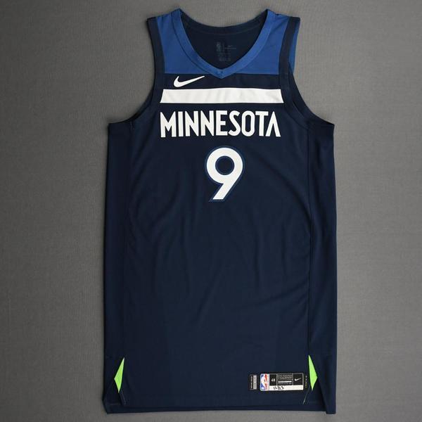 Image of Ricky Rubio - Minnesota Timberwolves - Kia NBA Tip-Off 2020 - Game-Worn Icon Edition Jersey