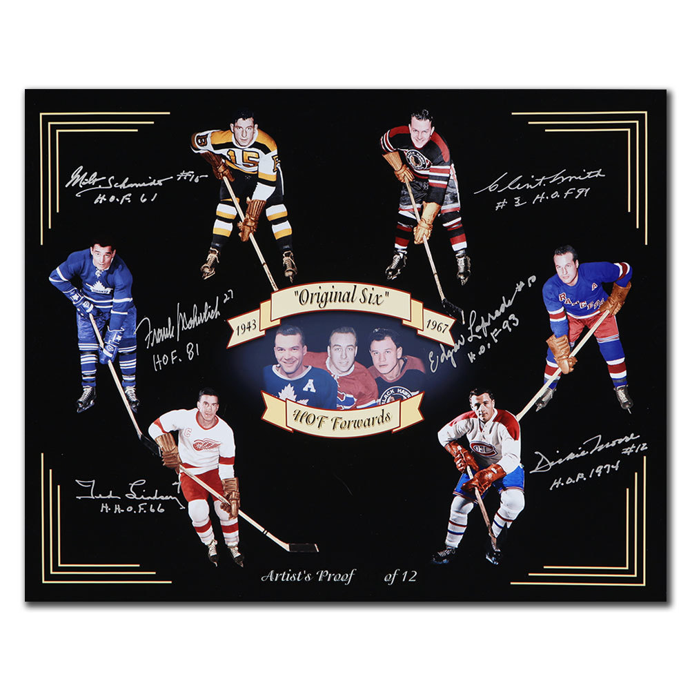 Original 6 HOF Forwards Autographed 16x20 Photo Signed By 6
