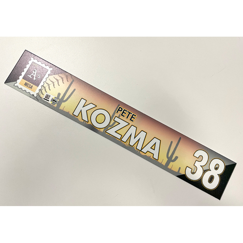 Photo of Game-Used 2021 Spring Training Locker Nameplate - Pete Kozma