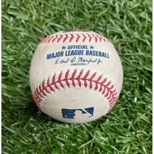 Photo of Game Used Baseball: Jose Trevino single and Joey Gallo foul ball off Rich Hill - Top 3 - April 15, 2021 v TEX