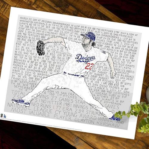 Photo of 2014 MVP Clayton Kershaw Art Print by Dan Duffy, Art of Words - Los Angeles Dodgers