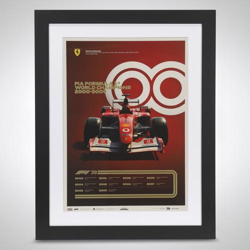 Photo of World Champions Automobilist Poster 2000 - 2009