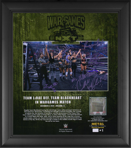 Photo of Team LeRae SIGNED NXT TakeOver WarGames 2020 Signature Series Plaque (#1 of 1)